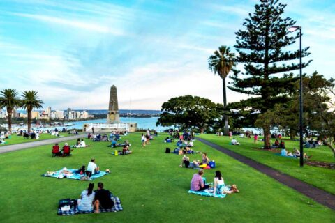 Kings Park picnicers in Perth, WA